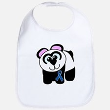 Blue Awareness Ribbon Goofkins Panda Bib