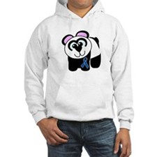 Blue Awareness Ribbon Goofkins Panda Jumper Hoody