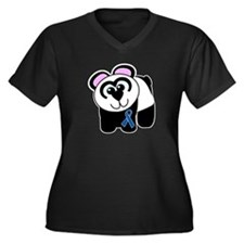 Blue Awareness Ribbon Goofkins Panda Women's Plus
