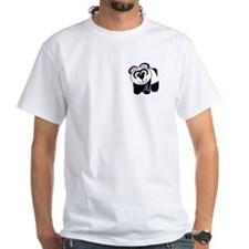 Blue Awareness Ribbon Goofkins Panda Shirt