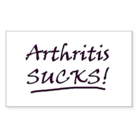 Arthritis Sucks! Rectangle Sticker