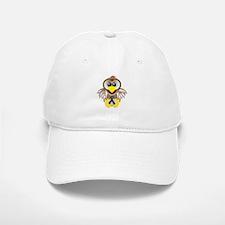 Blue Awareness Ribbon Goofkins Owl Baseball Baseball Cap