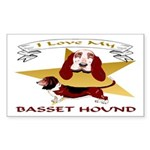Basset Hound Rectangle Sticker