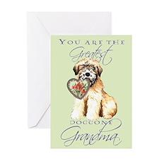 Wheaten I Love Grandma Greeting Card