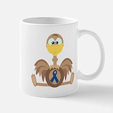 Blue Awareness Ribbon Goofkins Ostrich Mug