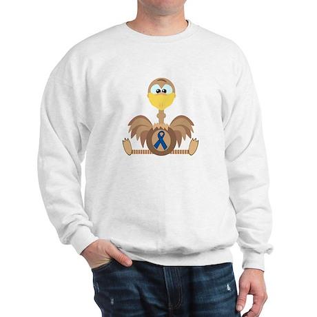 Blue Awareness Ribbon Goofkins Ostrich Sweatshirt
