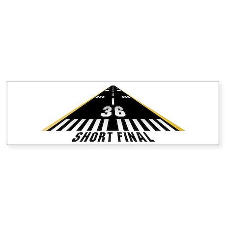 Aviation Short Final Bumper Sticker (10 pk)