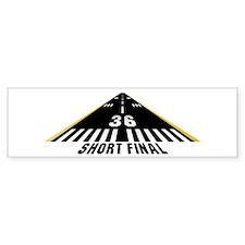 Aviation Short Final Bumper Bumper Sticker