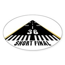 Aviation Short Final Oval Decal