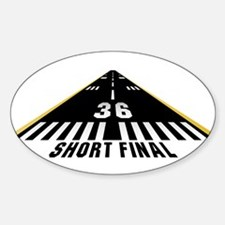 Aviation Short Final Oval Decal