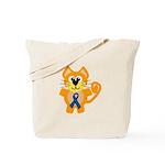 Blue Awareness Ribbon Goofkins Kitty Cat Tote Bag