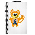 Blue Awareness Ribbon Goofkins Kitty Cat Journal