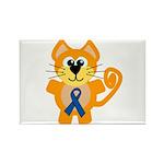 Blue Awareness Ribbon Goofkins Kitty Cat Rectangle