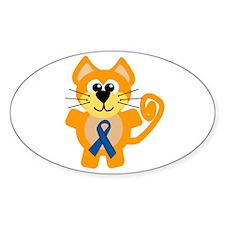 Blue Awareness Ribbon Goofkins Kitty Cat Decal