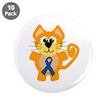 Blue Awareness Ribbon Goofkins Kitty Cat 3.5