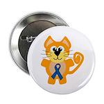 Blue Awareness Ribbon Goofkins Kitty Cat 2.25