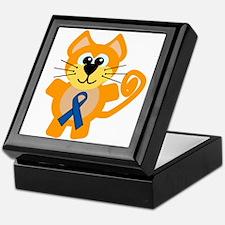 Blue Awareness Ribbon Goofkins Kitty Cat Keepsake