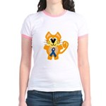Blue Awareness Ribbon Goofkins Kitty Cat Jr. Ringe