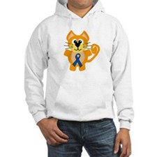 Blue Awareness Ribbon Goofkins Kitty Cat Jumper Hoody