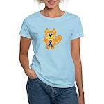 Blue Awareness Ribbon Goofkins Kitty Cat Women's L