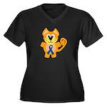 Blue Awareness Ribbon Goofkins Kitty Cat Women's P