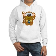 Blue Awareness Ribbon Goofkins Monkey Jumper Hoody