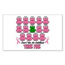 Pink Frogs 2 Rectangle Decal