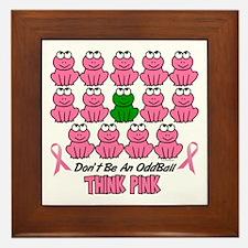 Pink Frogs 2 Framed Tile