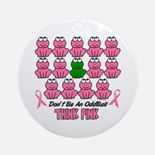 Pink Frogs 2 Ornament (Round)
