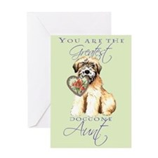 Wheaten I Love Aunt Greeting Card