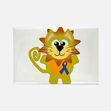 Blue Awareness Ribbon Goofkins Lion Rectangle Magn