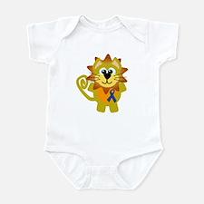 Blue Awareness Ribbon Goofkins Lion Infant Bodysui