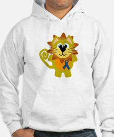 Blue Awareness Ribbon Goofkins Lion Jumper Hoody