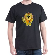 Blue Awareness Ribbon Goofkins Lion T-Shirt