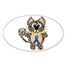 Blue Awareness Ribbon Goofkins Leopard Decal
