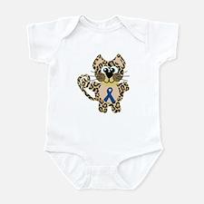 Blue Awareness Ribbon Goofkins Leopard Infant Body