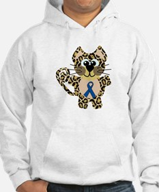 Blue Awareness Ribbon Goofkins Leopard Jumper Hoody
