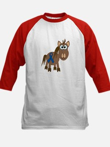 Blue Awareness Ribbon Goofkins Horse Tee