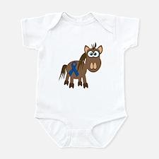 Blue Awareness Ribbon Goofkins Horse Infant Bodysu