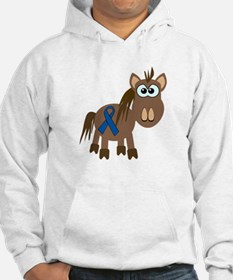 Blue Awareness Ribbon Goofkins Horse Jumper Hoody