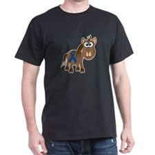 Blue Awareness Ribbon Goofkins Horse T-Shirt