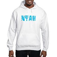 Nyah Faded (Blue) Hoodie Sweatshirt