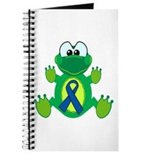 Blue Awareness Ribbon Goofkins Frog Journal