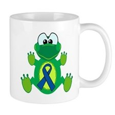 Blue Awareness Ribbon Goofkins Frog Mug