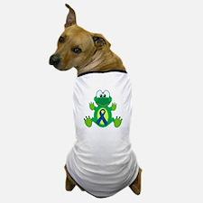 Blue Awareness Ribbon Goofkins Frog Dog T-Shirt