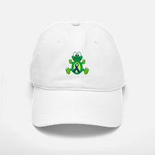 Blue Awareness Ribbon Goofkins Frog Baseball Baseball Cap