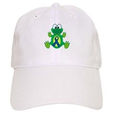 Blue Awareness Ribbon Goofkins Frog Baseball Cap