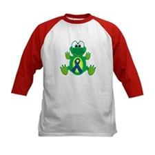 Blue Awareness Ribbon Goofkins Frog Tee