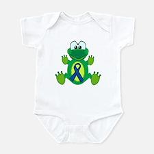 Blue Awareness Ribbon Goofkins Frog Infant Bodysui