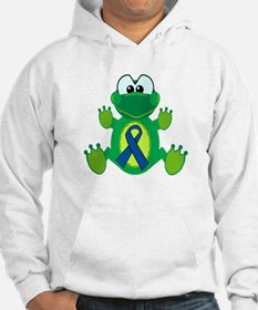 Blue Awareness Ribbon Goofkins Frog Hoodie